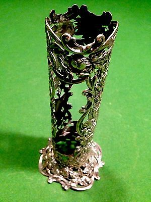 Antique Sterling Silver Art Nouveau Flower Vase..sterling- 1910