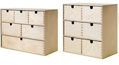 Ikea Moppe Mini Wooden Chest Of 6 Drawers,Multi Use,Storage Boxes,Jewellery Box