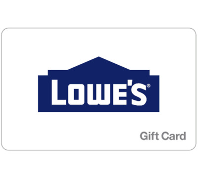 Lowe's Gift Card - $25, $50 or $100 - Fast Email delivery