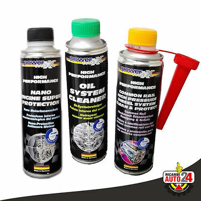 Kit Nano Engine Protection, Oil Cleaner e Additivo Common Rail Diesel PowerMax