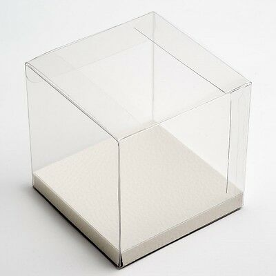 Clear Acetate Cube Gift Boxes PVC - Sweets Chocolate Wedding Favour 8x8x8cm