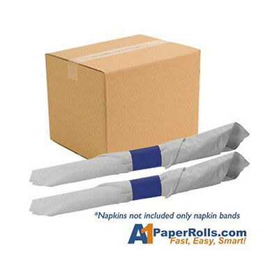 "20,000 Paper Napkin Bands for Restaurant Deli Bar -Self Adhesive 4-1/4"" x 1 1/2"""