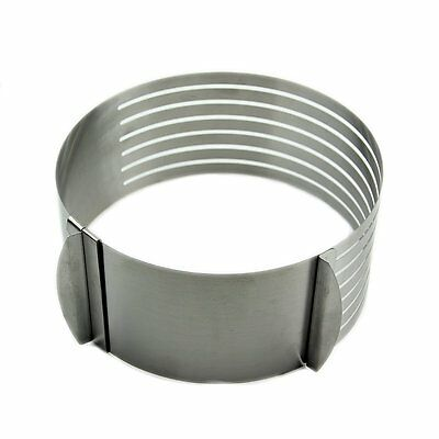 F8 16 -20cm Adjustable Stainle Scalable Moue Cake Ring Layer Slicer Cutter