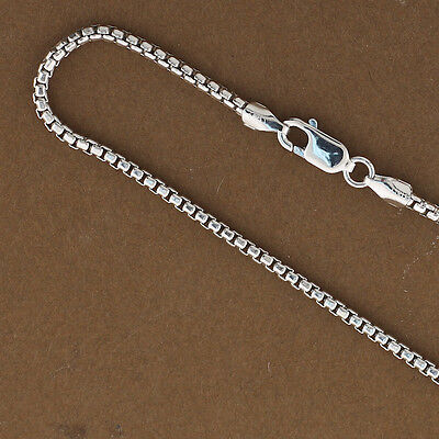 """2mm 925 Sterling Silver Round Box Chains Wholesale Chains 16"""",18"""",20"""",22"""",24"""",30"""