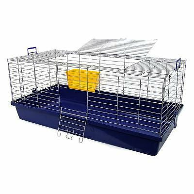 Maxi XXL Small Pet Cage Guinea Pig Rabbit Sturdy Large Blue Indoor Outdoor NEW