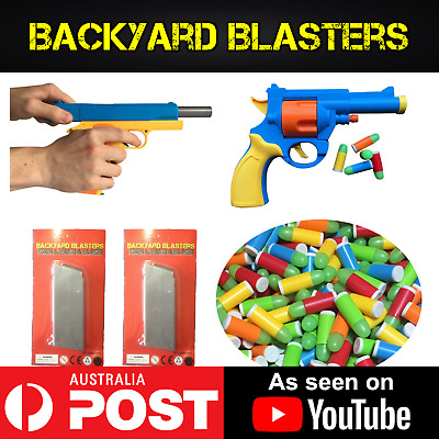 Toy Gun Twin Pack - 2X Colt 1911 Rubber Bullet Toy Guns | Backyard Blasters