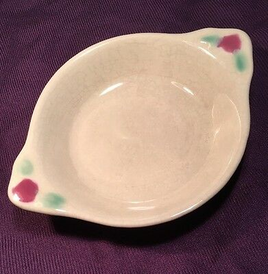 COORS POTTERY USA ROSEBUD Ivory Cereal Bowl Tab Handles