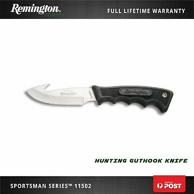 Remington Sportman Guthook Knife Stainless Steel For Survival Hiking Hunting