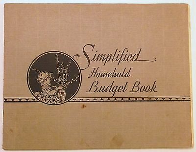 1932 SIMPLIFIED Home BUDGET BOOK ~ Antioch College ~ 1951/1952