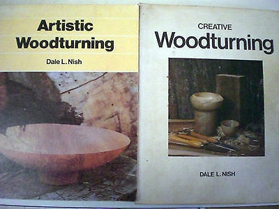 2 x s/cs: CREATIVE WOODTURNING + ARTISTIC WOODTURNING: DALE NISH Crafts Woodwork