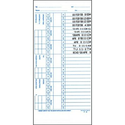 P-10 or JC-10 TIME CARDS FOR TS-500 TIME CLOCK (500 CARDS)
