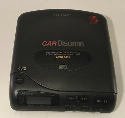 Vintage Sony Car Discman Walkman CD Player D-802K TESTED - Priced to Sell! L@@K!