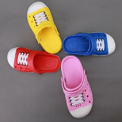 Children Kids Cute Garden Shoes Boys Girls Summer Slippers Sandals Size 20-34 LH