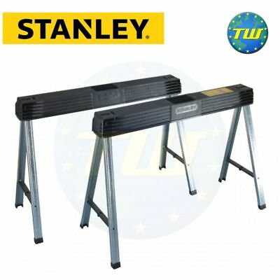 2x Stanley Folding Portable Metal Leg Heavy Duty Saw Horse 1-97-475 STA197475