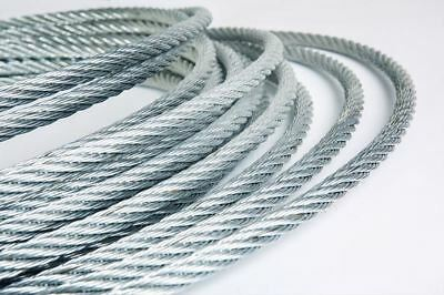 Steel Wire Rope Galvanized all sizes and length eye loop grip DIY SALE OFF CUTS
