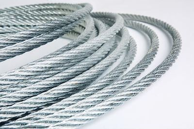 Steel Wire Ropr Galvanized all sizes and length eye loop grip DIY SALE OFF CUTS