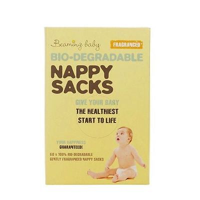 Beaming Baby Nappy Sacks Fragranced 60's Pieces (Pack of 3)