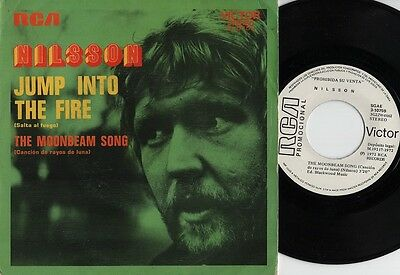 "HARRY NILSSON - Salta al fuego - meg@r@re Spanish 7"" single 45 Spain 1972 PROMO"