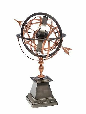 Sundial iron copper garden decoration antique style globe 93cm