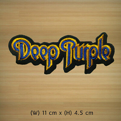 Deep Purple Embroidered Iron on Patch or Sew Hard Heavy metal progressive Rock