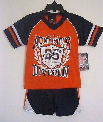 Nwt Mad Game Boys 2 Pc Short Outfit 2T, 4T