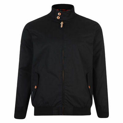 Lambretta Mens Black Harrington Bomber MOD SKA Scooter Jacket Coat