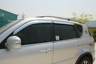 For Ssangyong Rexton W 2014 - 2017 Chrome Wind Deflector Set (4 pieces)