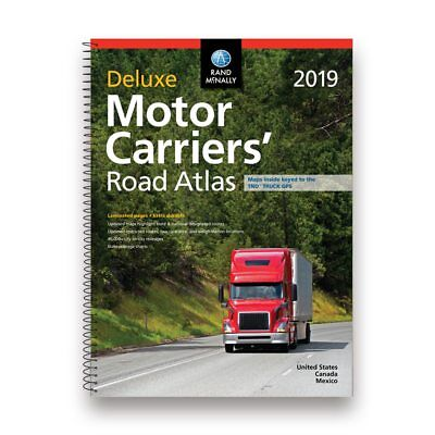 Rand McNally 2019 Deluxe Motor Carriers Truckers Road Atlas Spiral/Laminated-NEW