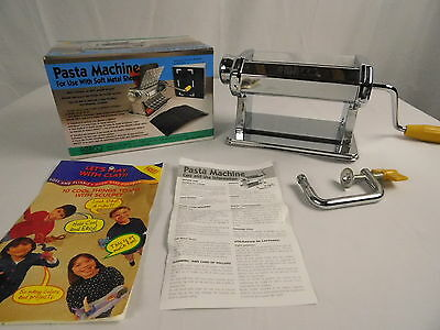 Amaco Polymer Clay Metal Craft Pasta Machine Soften Knead Roller New in Box