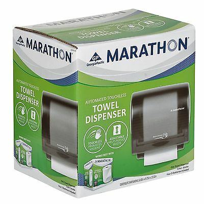 Marathon Roll Towel Dispenser, Automated Touchless, Smoke - 350 Ft. Capacity New