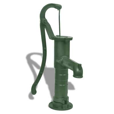 vidaXL Hand Pump Cast Iron Well Water Pitcher Press Suction Outdoor Yard Pond