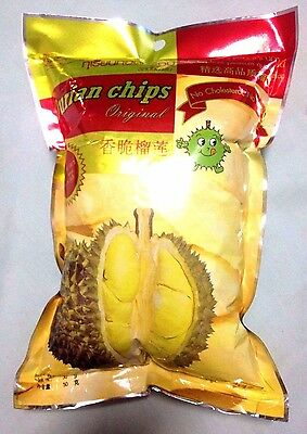 2,3,5,10 Packs 50g DURIAN CHIPS FRUIT SNACK VACUUM FREEZE DRIED PREMIUM QUALITY
