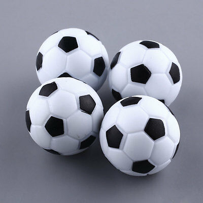 New Plastic 4pcs 32mm Soccer Foosball Ball Football Fussball Black+White