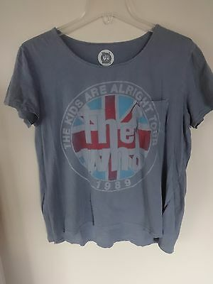Vintage - The Who - 1989 Tour Band Graphic Printed T-Shirt Women XL Distressed