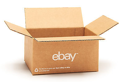 "(25 count) eBay Branded Boxes 8"" x 6"" x 4"" - Shipping Supplies"