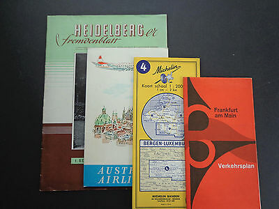 Vintage travel memorabilia/guides-Germany, Austria, Luxemb mid 20th cent INV2408