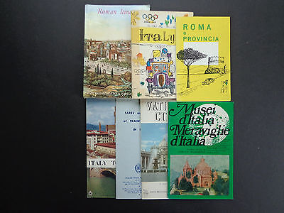 7 Vintage Italy and Rome travel guides/maps INV2409