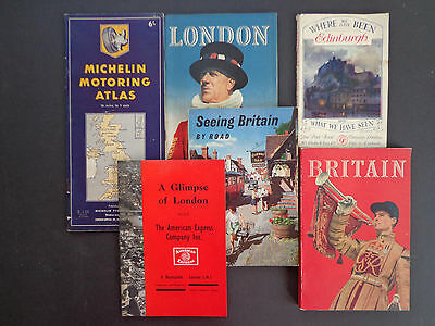 6 Vintage Britain/London travel memorabilia/guides; early/mid 20th cent. INV2414