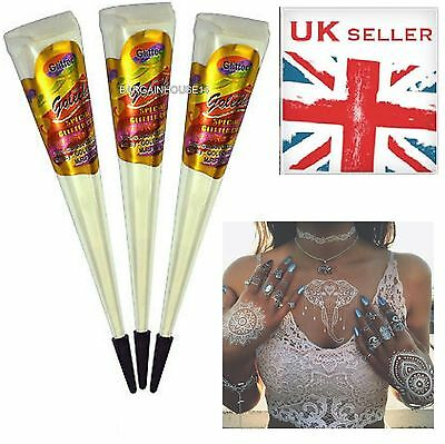 White Indian Henna Golecha Paste Cone Tattoo Temporary Top Quality Bridal Body