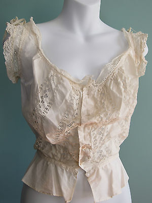 Vintage Victorian Edwardian cotton lace camisole top