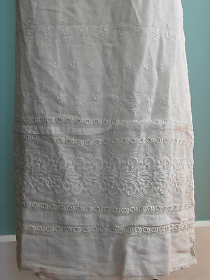 Victorian embroidered skirt panel fabric