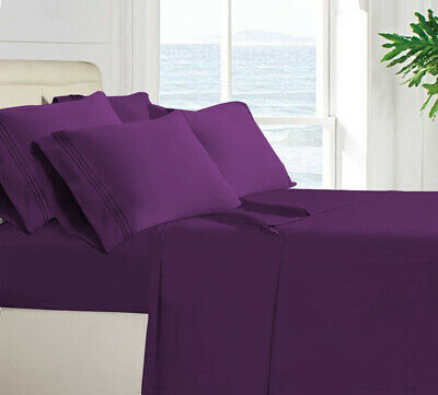 6 Piece Luxury Deep Pocket Bed Sheet Home Collection 1800 Egyptian Series Twin3P