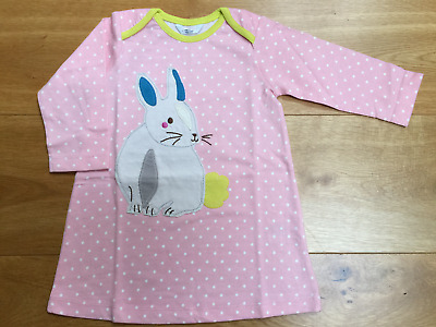 Baby Girls X Mini Boden Rabbit Bunny Applique Jersey Dress 0 3 6 12 18 24 Easter