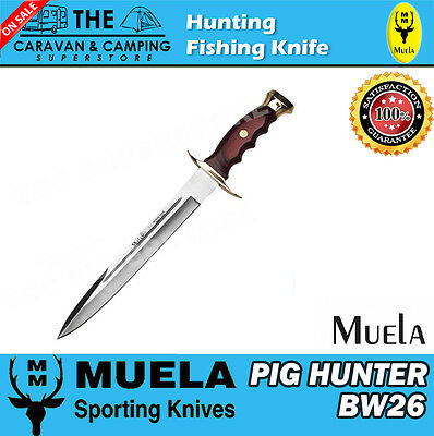 "Muela PIG HUNTER 26 HUNTING FISHING KNIFE HUNTER "" FREE POSTAGE""  BW 26"