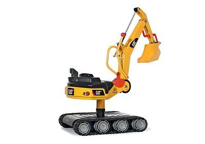 Ride On Digger - CAT Metal Excavator Style - Yellow - Rolly