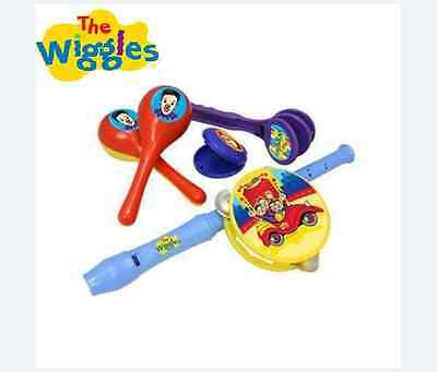 The Wiggles Musical Instrument Kit Set Kids Toy Recorder Tambourine Music