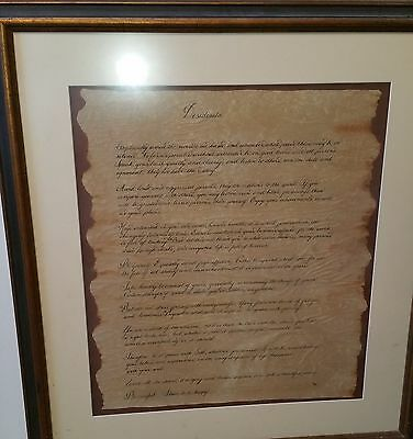 Max Ehrmann's Desiderata ~ Hand lettered in calligraphy on parchment