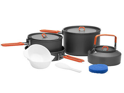 4-5 Person Cooking Pot Camping Cookware Outdoor Pots Sets Feast4