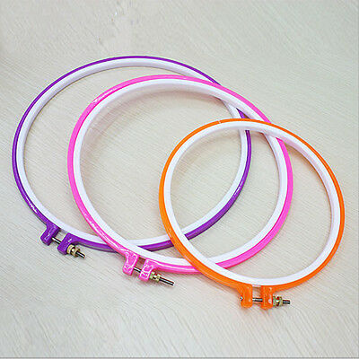 1PC Hot Useful Multi-Color Embroidery Cross Stitch Machine Hoop Ring Adjustable