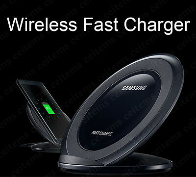 Real Qi Wireless Fast Charger Charging for Samsung Galaxy S6 S7 edge+ Note 5 Lot